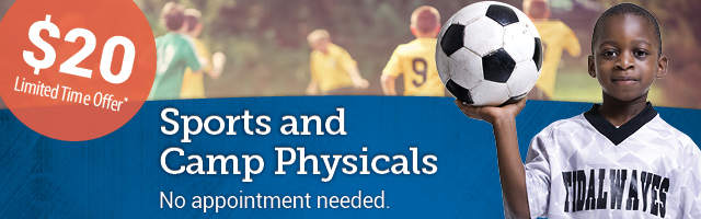 $20 Sports and Camp Physicals banner